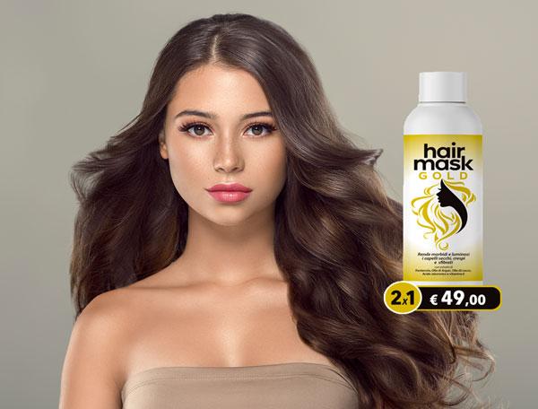 hair mask gold maschera nutriente per capelli